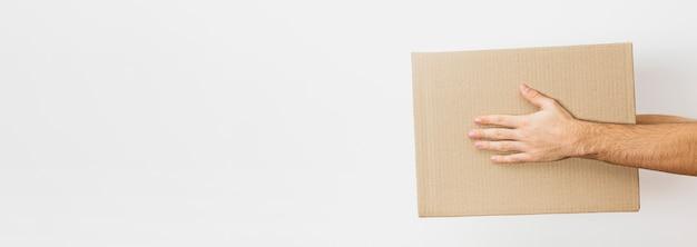 Paquet de livraison de copie-espace