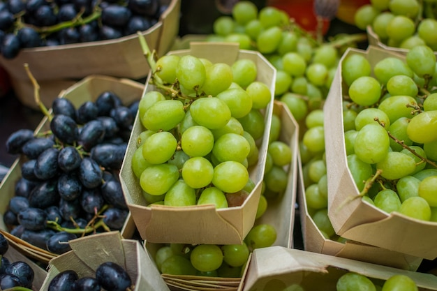 Paquets de raisins frais