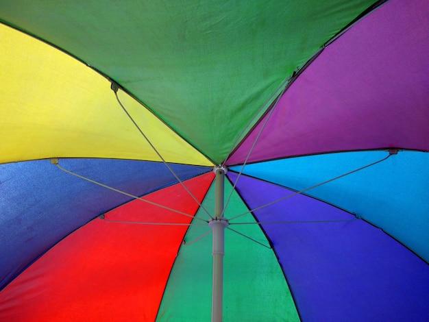 Parapluie coloré à l'intérieur