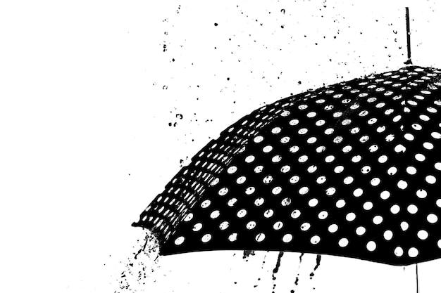 Parapluie goutte de pluie isolé