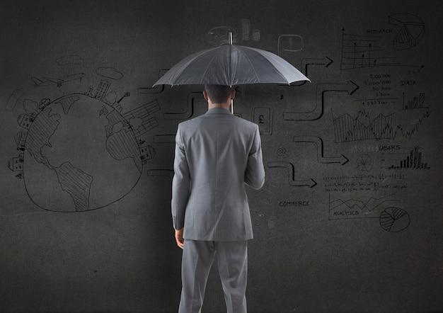 Parapluie international pointage professionnel concentré