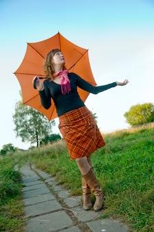 Parapluie orange