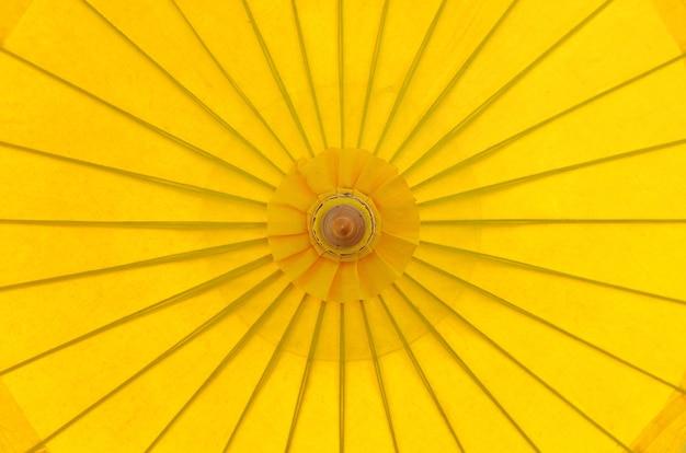 Parasol parasol parasol jaune vue de dessus