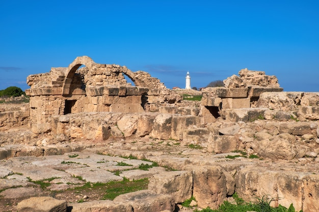 Parc archéologique de paphos à kato pafos à chypre