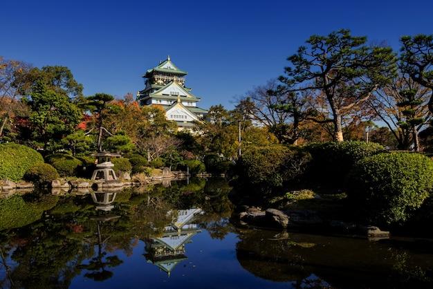 Parc d'automne du château d'osaka, japon