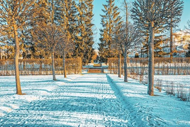 Parc catherine près du palais du même nom, tsarskoïe selo (pouchkine). saint-pétersbourg. russie.