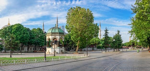 Parc du sultan ahmed à istanbul, turquie