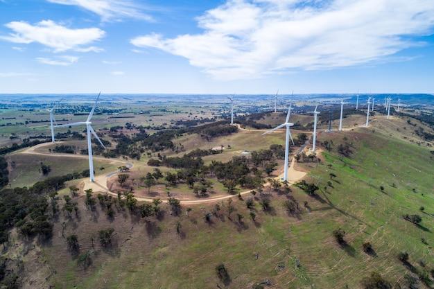 Parc éolien en campagne