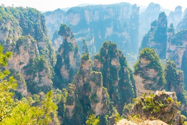 Parc forestier national de zhangjiajie en chine