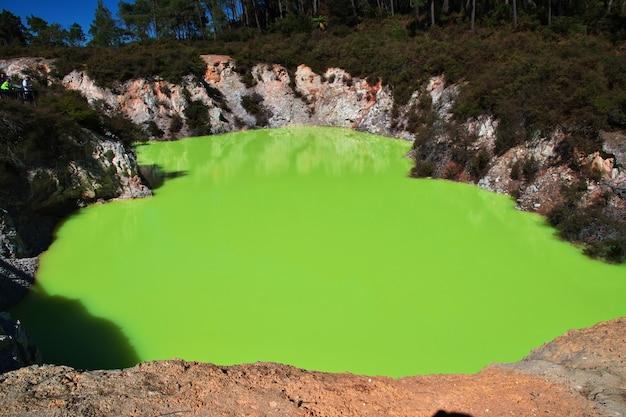 Parc géothermique de wai-o-tapu en nouvelle-zélande