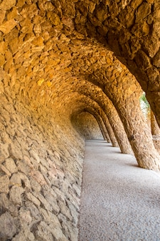 Parc guell, barcelone espagne