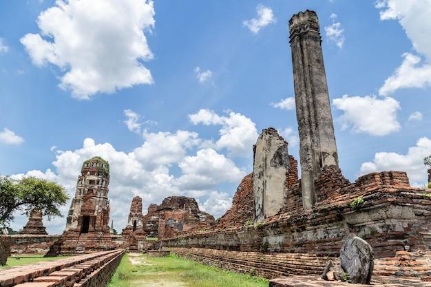 Parc historique d'ayutthaya en thaïlande