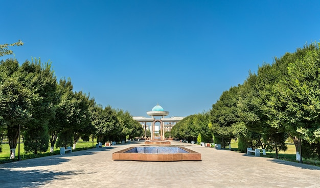 Parc jalal ad-din mingburnu à urgench, ouzbékistan. asie centrale