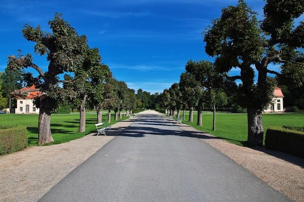 Le parc de moritzburg schloss en allemagne, saxe