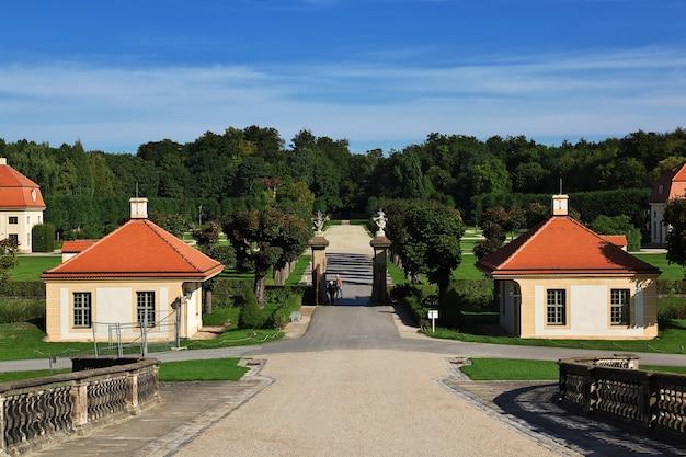 Le parc à moritzburg schloss en allemagne, saxe