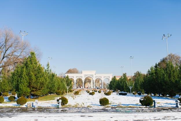Parc national alisher navoi de l'ouzbékistan en hiver