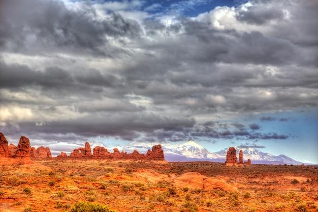 Parc national des arches à moab, utah usa
