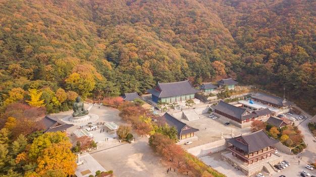 Parc national coréen avec des temples