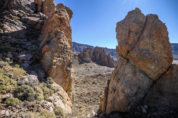 Parc national du teide, formations rocheuses volcaniques. tenerife, îles canaries