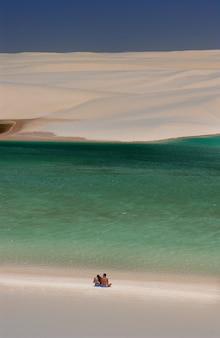 Parc national lencois maranhenses maranhao brésil dunes de sable blanc et lagons saisonniers