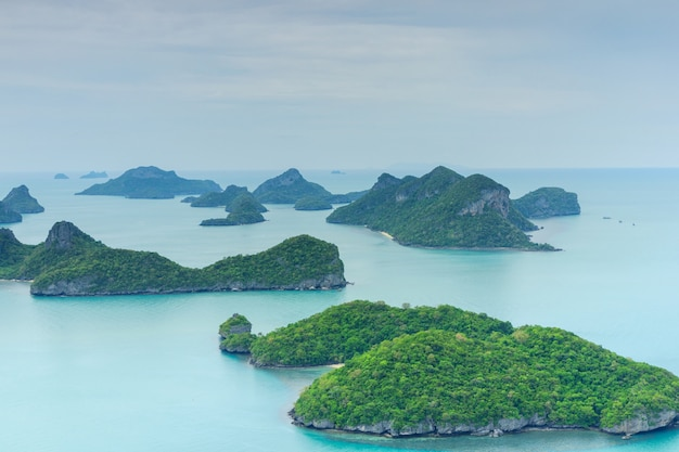 Parc national de mu ko ang thong, île de samui, thaïlande