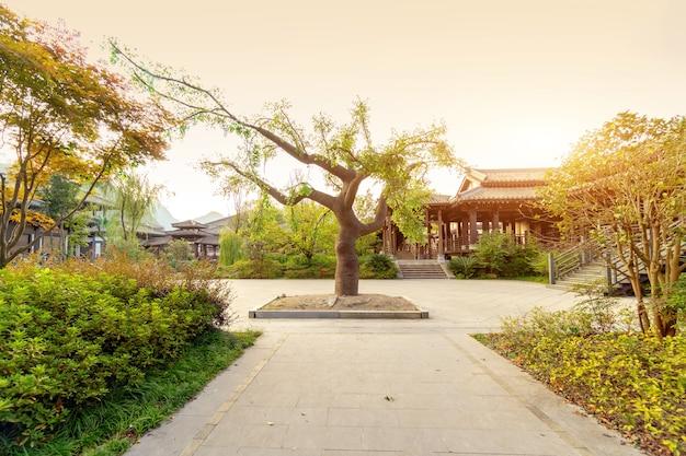 Parc de la ville antique de qin et han, guizhou, chine.