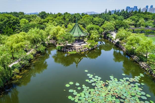 Parc de la ville en chine