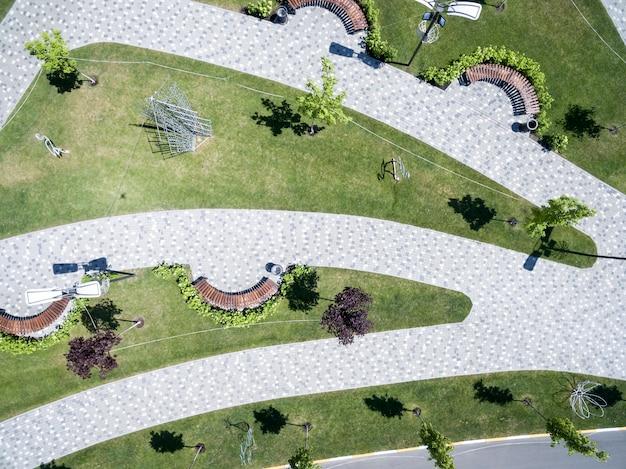 Parc de la ville, place, vue d'en haut