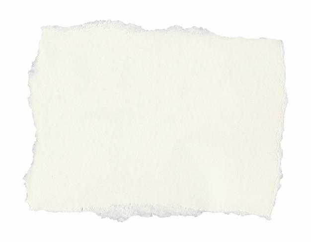 Parchemin d'étiquette vierge isolé sur blanc
