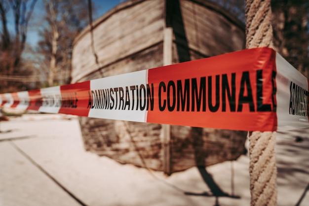 Parcs publics fermés en période d'urgence mondiale contre le coronavirus