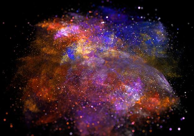 Paricle coloré étincelle de poussière de fond