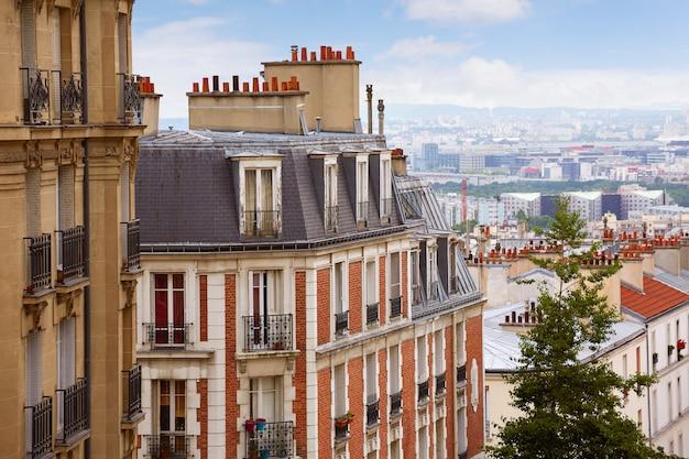Paris skyline aérien de montmartre