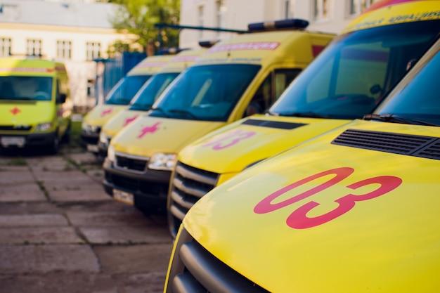 Parking ambulance d'urgence