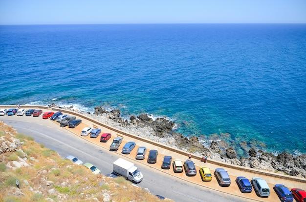 Parking sur la plage de rethymnon