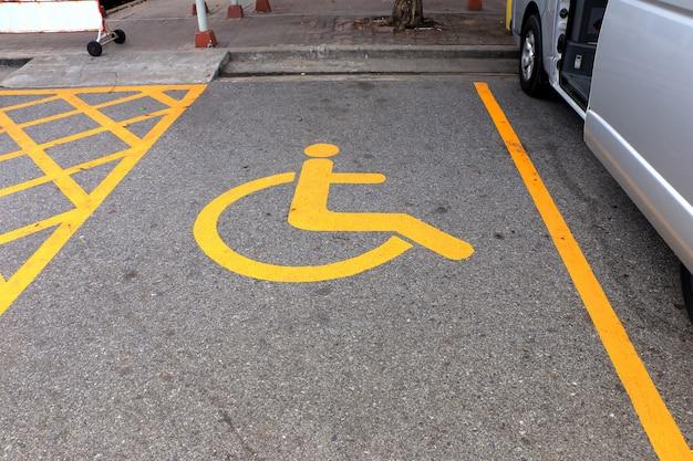 Parking pour handicapés