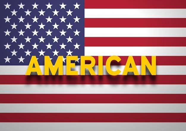 Parler de fond américain