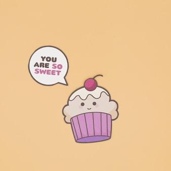 Parler petit gâteau