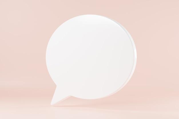 Parler de texte de bulle parler de boîte de discussion symbole de signe de pensée illustration de rendu 3d