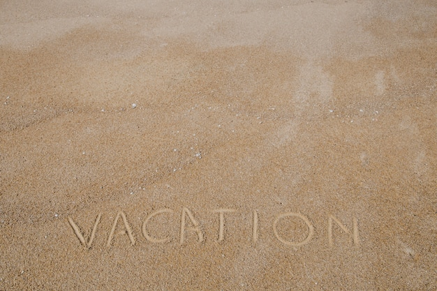Parole écrite sur le sable