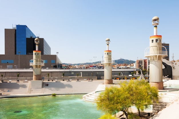 Parque de l'espagne à barcelone