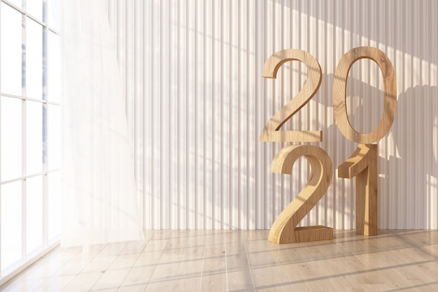 Parquet La Lumière Brille à Travers La Fenêtre Et Des Ombres Tombent Dessus. Avec Mur Blanc Et Transparent Avec Texte 2021 Sur Le Rendu 3d De Mur Photo Premium