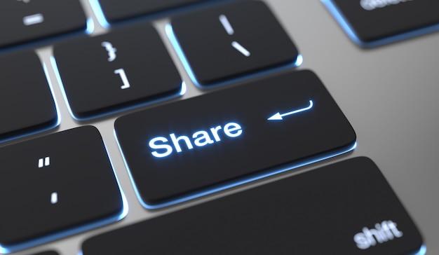 Partager le texte écrit sur le bouton du clavier.