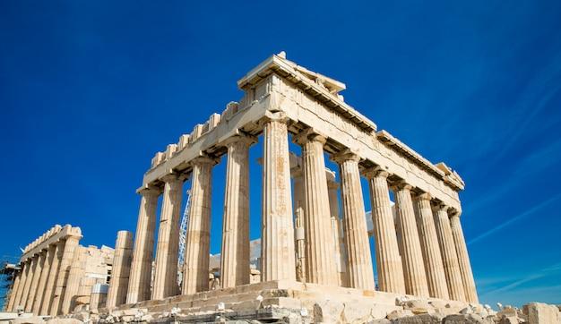Parthénon sur l'acropole à athènes, grèce