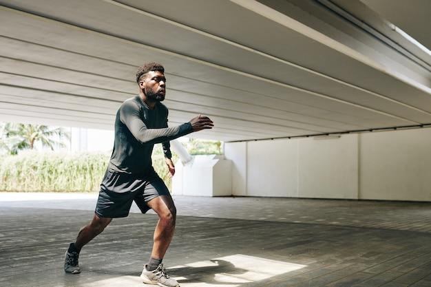 Participant au marathon d'entraînement