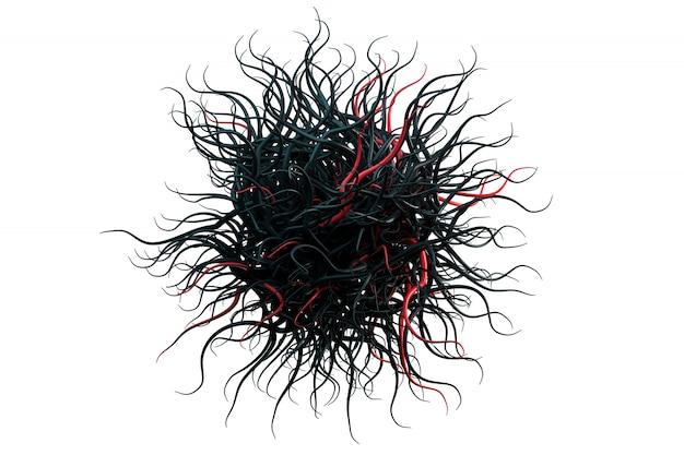 Particule effrayante noir-rouge