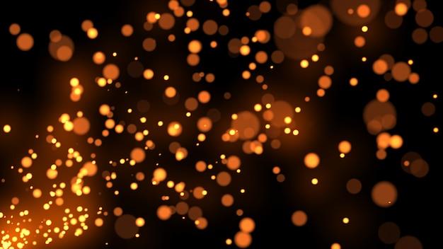 Particules étincelles points glitter slow motion background 3d illustration isolé