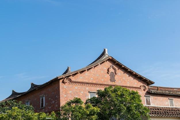 Une partie de l'architecture traditionnelle chinoise en brique rouge