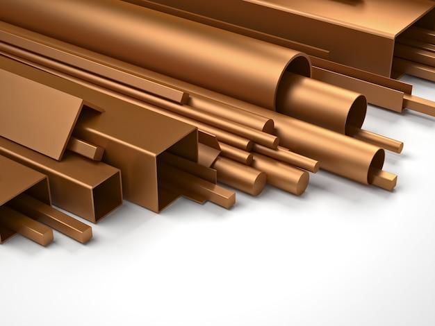 Partie en cuivre et métal