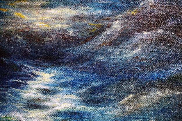 Une partie du fond de peinture à l'huile