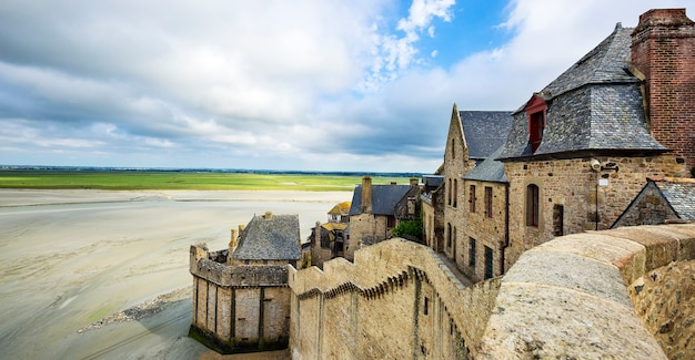 Une partie du mont-saint-michel, france.